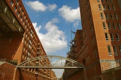 HafenCity, bij haven, Hamburg, Duitsland Stock Fotografie