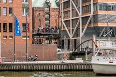 Hafencity Hamburg royalty-vrije stock afbeeldingen