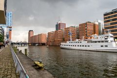 Hafencity Hamburg Royalty-vrije Stock Afbeelding