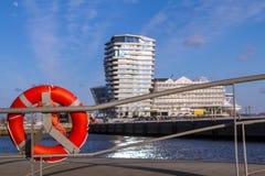 Hafencity in Hamburg lizenzfreie stockfotos