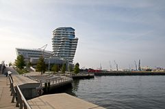 Hafencity Hamburg Royaltyfria Bilder