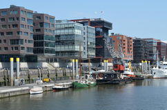 Hafencity Hamburg, a brandnew dockland area in Hamburg. The famous Hafencity in Hamburg, Germany. A huge completely newly-planned urban quarter in the dockland Royalty Free Stock Photo