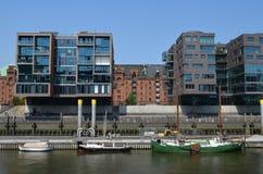 Hafencity Hamburg, brandnew dockland teren w Hamburg Fotografia Royalty Free