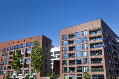 Hafencity in Hamburg, Germany. Modern appartment buildings in the harbor of Hamburg, Germany Royalty Free Stock Image