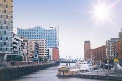 Hafencity Hamburgo, Alemania fotos de archivo libres de regalías