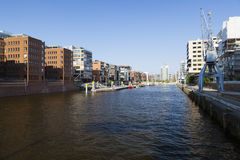 Hafencity Sandtorhafen in Hamburg, Germany Royalty Free Stock Photography