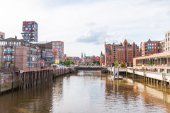 The HafenCity and the world famous Speicherstadt in Hamburg Stock Photography