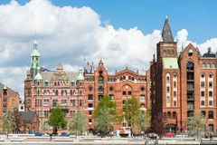 The HafenCity and the world famous Speicherstadt in Hamburg Royalty Free Stock Photography