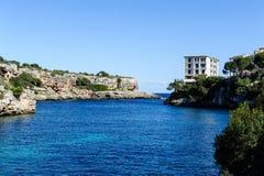 Hafeneingang, Cala Figuera, Mallorca, Mittelmeer lizenzfreies stockbild