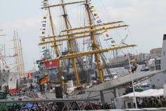 Hafengeburtstag Amburgo Immagini Stock
