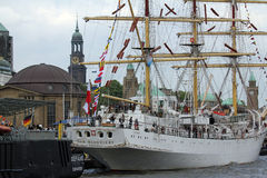 Hafengeburtstag Amburgo Fotografia Stock