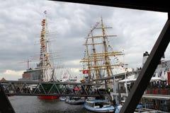 Hafengeburtstag Amburgo Immagini Stock Libere da Diritti