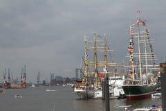 Hafengeburtstag Hambourg Images libres de droits