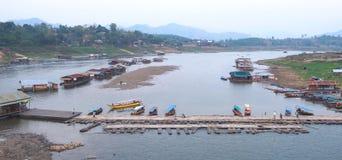 Hafenkabine in ländlichem Sangkla, Thailand Lizenzfreies Stockbild