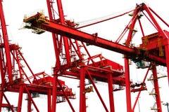 Hafenkräne Lizenzfreie Stockfotos