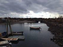 Hafennachmittag Stockbild