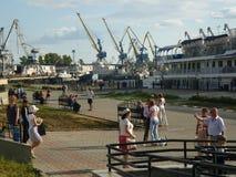 Hafenstadt von Kasan Stockbild