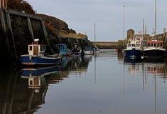 Hafenszene, Amlwch, Anglesey Stockfotografie