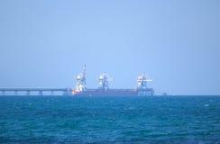 Hafentanker Stockfoto