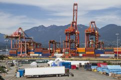 Hafenversandverpackungen Lizenzfreie Stockbilder