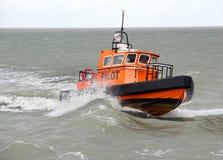 Hafenversuchsboot Stockfoto
