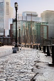 Hafenweg lizenzfreie stockfotos