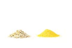 Hafer und Maiskorn lizenzfreie stockfotografie