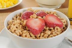 Hafergetreide mit Erdbeeren Stockbild