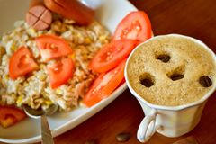 Hafermehl zum Frühstück Stockfotos