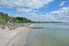 Haffkrug海滩,波罗的海,德国 免版税图库摄影
