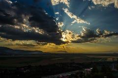 Hafl światła przyrodni ciemny niebo Obraz Stock