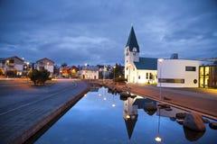 Hafnarfjordur,冰岛。 免版税库存照片