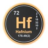 Hafnium Hf chemical element. 3D rendering. Isolated on white background vector illustration
