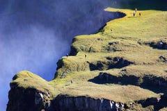 hafragilsfoss冰岛 免版税库存照片