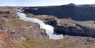 Hafragilsfoss waterfall, Iceland Stock Photos