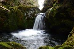 Hafren暗藏的瀑布 库存照片