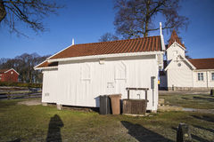 Hafslund church (the chapel) Stock Photos