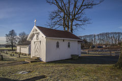Hafslund church (the chapel) Royalty Free Stock Images
