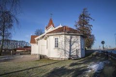Hafslund church (east) Royalty Free Stock Image