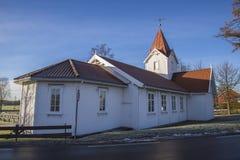 Hafslund church (north-east) Stock Photo