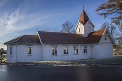 Hafslund church (north) Stock Photo