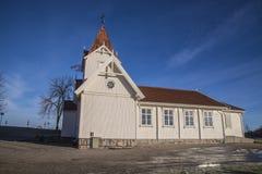 Hafslund church (south west) Royalty Free Stock Photos