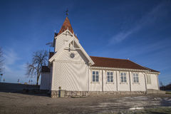 Hafslund church (south west) Royalty Free Stock Photos
