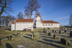Hafslund Church (the Chapel & Church) Royalty Free Stock Photo