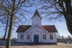 Hafslund church (west) Royalty Free Stock Photography