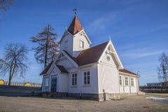 Hafslund church (west southwest) Stock Image