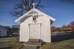 Hafslundkerk (de kapel) Stock Foto's