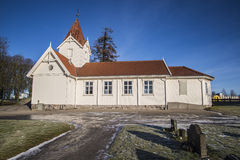 Hafslundkerk (zuiden) Royalty-vrije Stock Fotografie