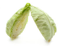 Haft cabbage isolated on white background Royalty Free Stock Photography