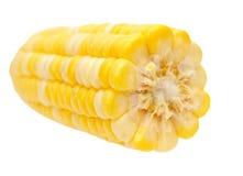 Haft of corn isolated. On white background Royalty Free Stock Photo